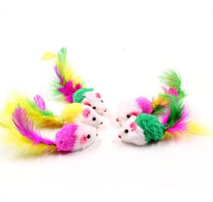 Supplies Home & Garden Drop Delivery 2021 10Pcs Lot Colorful Soft Fleece False Mouse For Funny Playing Pet Dog Cat Small Animals Feather Toys