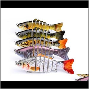 Baits Lures Sports & Outdoors Drop Delivery 2021 12Cm 15G Wobbler Sea Pike Fish Lure Swimbait Crankbait Isca Artificial With Hook Fishing Tac