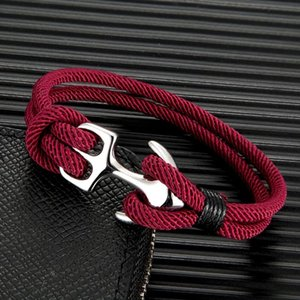 Men Outdoor Camping Anchor Rope For Women Stainless Steel Sport Buckle Gift Charm Bracelets