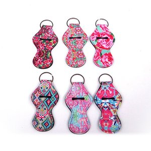 6 Colors Neoprene Chapstick Keychain Chapstick Holder For Sale In Stock Party Favors Holiday Gifts keychain