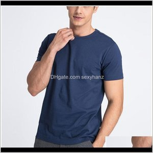 Tshirts Tees S Clothing Apparel Drop Delivery 2021 Mrmt 100Percent Cotton Tshirt Mens Brand Round Neck Solid Pure Color Short Sleeve Men T Sh