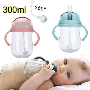 Silica Gel Feeding Kids Toddler Born Baby Drink Cups Water Bottles Drinking Sippy a Cup with Straw Copo Infantil Drinker