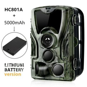HC801A-LI Trail Camera With 5000 MAh Lithium Battery 1080P 16MP Hunting Night Version Infared LEDs Wild Po Trap Cameras