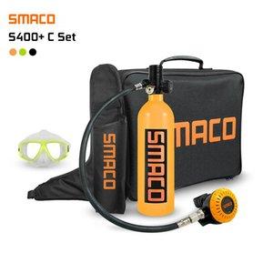 Аксессуары для дайвинга SMACO S400 PLUS SET 1L MINI CLISUBA Цилиндр Кислородный бак с модернизированным адаптером дыхательного клапана Открытая сумка