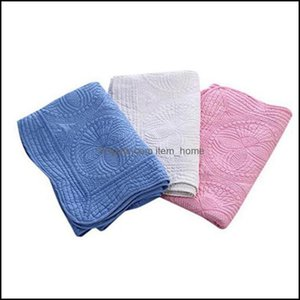 Textiles Home & Garden22 Colors Cotton Embroidery Blanket 90*115Cm Ruffle Baby Quilt Infant Born Blankets Cyz2854 50Pcs Drop Delivery 2021 7