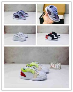 Boîte) 2021 Signé conjointement des chaussures d'enfants High og 1s Chicago 1 bébé garçon fille Sneaker Baskets Toddlers Né Baby Baskers Footwear enfants
