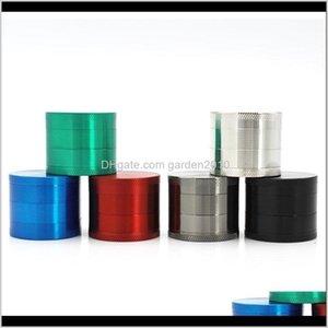 Otros accesorios 40mm 4 piezas Aleación de zinc Molinillo de hierba para tabaco a base de hierbas para molinos de fumar 6 colores al por mayor ilxcg mhxmh