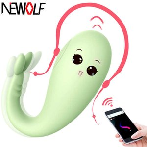 Silicone Monster Vibrator APP Wireless Remote control G-spot Massage 8 Frequency Adult Game Sex Toys for Women Q49 Y201118