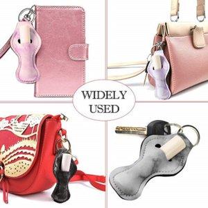 Classic design printing chapstick holder keychain, lipstick packing bag, chapsticks Holders Kits, Neoprene gourd shape lip gloss EEB6122