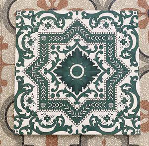 Retro dark green tiles 300 mm kitchen bathroom wall vitrolite living room balcony anti slip floor tile