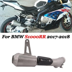 Slip On For S1000RR 2021 Motorcycle Exhaust Escape Moto Modified Muffler Middle Link Pipe Carbon Heat Shiled Cover Plug System