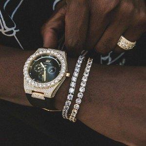 Tennis Bracelet Zirconia Round Square Cut Mens Triple Lock Hiphop Jewelry Cubic Luxury Crystal CZ Men Fashion Charm Bracelets Jewelry