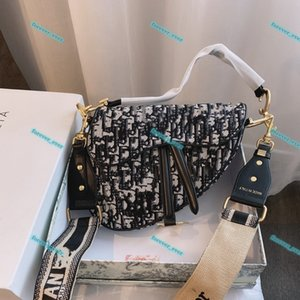 2021 Fashion Women Shoulder Mini backpack Style Crossbody Saddle Bag Tote Purse High Quality Genuine Leather Handbags With letters Strap