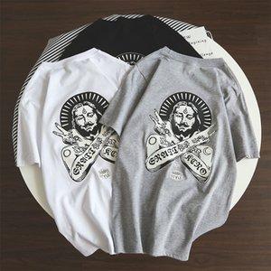 cotton short sleeve men's 2019 hip summer hop trend simple couple T-shirt