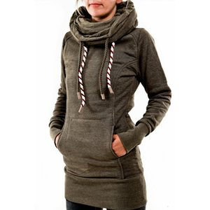 2021 five pointed star Hooded Sweater medium length cashmere women's sweater Plush