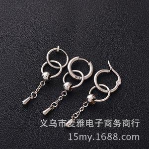 Zhou Zhennan's Hip Hop Titanium Steel Earrings No Ear Hole Star's Same