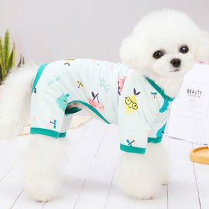 Small Pet Dog Apparel teddy Bear Cartoon Printing clothes spring and summer thin Clothing Puppy Breathable Coat T Shirts Supplies Colors Vests Anti urine design