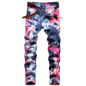 Fashion Colorful Spring Autumn Men Skinny Elastic Jeans Mens Slim Fit Biker Denim Cotton Pants Motorcycle jean