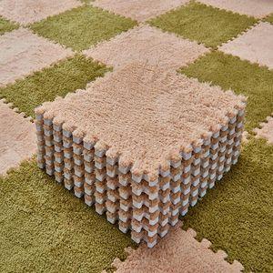 5pcs Jigsaw Pads Tiled Carpet Bedroom Foam Rug Carpets For Living Room Mat Floor Center Furry Washable Rugs