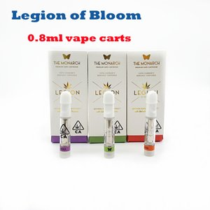 Легион Bloom 0.8ML распылитель 10 Flavos Vape Carts 510 нить керамическая катушка для толстой масляной упаковки 100% оригинал