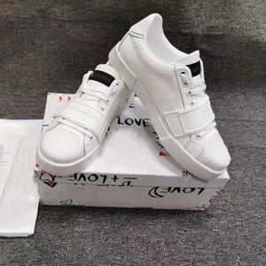 Erkek Lüks Tasarımcıları Rahat Ayakkabılar 2021 Moda Ve Konforlu Gerçek Dana Malzeme Dantel-Up Düz Alt Sneakers 39-46