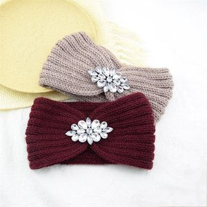 Knitting Rhinestone Hair Band Ear Protection Warm Weave Headband Women Lady Fashion Accessories Headbands Colourful Outdoor 4 2hf N2