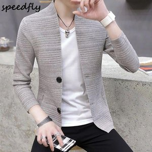 Sweatercoat Men Casual Knitted Cardigan Business Streetwear Long Sleeve Coat Outwear Fashion Jacket Brand Clothing Men's Jackets