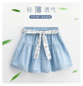 Shorts Girl Denim Bow Skirt 2021 Summer Clothing Baby Children Kids Good Quality Comfortable Clothes