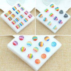 Earrings For Women Fine Jewelry Jewelry Creative Personality Earring Plastic Rainbow Earrings For Women Stud Earrings 129 M2
