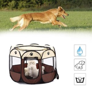 Dog Houses & Kennels Accessories Portable Folding House Cage Cat Tent Playpen Puppy Kennel Easy Operation Octagonal Fence For Cats Supply