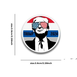 Trump 2024 Metal Badge 12 Styles Pin Button Medal For America President Election FWD10085