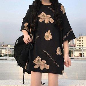Women's T-Shirt Women Tshirts Female 2021 Spring Summer Harajuku Tops M-4XL Plus Size Crew Collar Short Sleeve Tee Graphic Cute Hug Bear