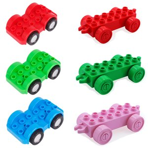 Diy Big Size 2 Type Of Car Base Plate Building Blocks Enlighten Baby Bricks Toys For Children