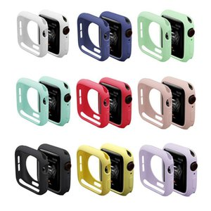 Colourful Watch Cover For Apple Watch 40 44mm Series 6 SE 5 4 Soft TPU Case For Iwatch 38mm 40mm 42mm 44mm Screen Protector Frame