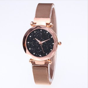Wholesale Diamond Starry Sky Beautiful Quartz Womens Watch Ladies Watches Fahsion Woman Casual Rose Gold Wristwatches