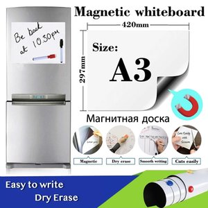 A3 Size Magnetic Whiteboard Sticker Fridge Soft Dry Erase White Board School Office Kitchen Message Boards Memo Pad Remind Record