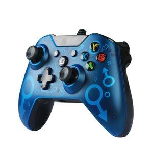 Crystal Blue USB игровые контроллеры один проводной контроллер джойстик геймпад видео с розничной упаковкой 2021 Newstyle Boy подарок