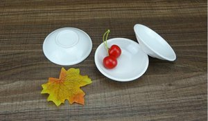 Plastic Seasoning Dish Bowls Round White Sauces Plate Snacks Dishes Storage Trays Saucer Food Container RH2751
