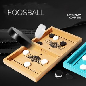 2021 Sling Puck Foosball Table Game for Adults Kids 10 Chess Board Plastic Toys Hockey Parent-Child Interactive Montessori Toys C0331