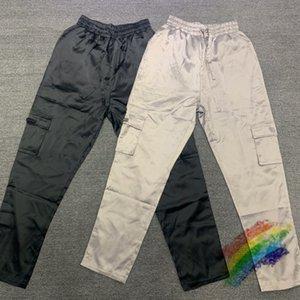2021FW Pants Men Women 1 High Quality Drawstring Reflective Cargo Overalls