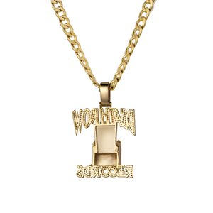 New Death Row Pendant Hip Hop TUPAC zircon Necklace Fashion Accessories For Men And Wome