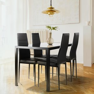Dining Room Furniture 5 Pieces Table Set for 4,Kitchen Tempered