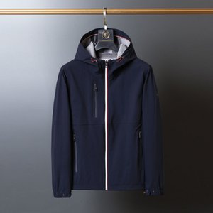 Men's jacket luxury wrinkle resistant casual windbreak coat high quality outdoor clothes m-2xl