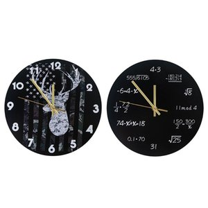 Industrial Modern Wall Clock Art American Personality Living Room Clocks Home Office School Vintage Decor GWD6220