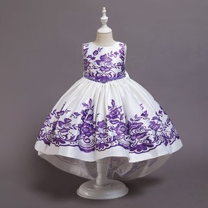 2020 new Christmas girls dresses embroidery floral kids dress long princess dress girls formal dresses kids party dresses B3113 667 Y2