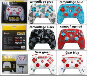 Камуфляж Цвета Беспроводной контроллер Bluetooth Ручной игровые Контроллеры Вибрации Джойстик Геймпад Для Switch Pro / N-SL / PS3 с розничной упаковкой