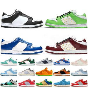 2021 Nike SB Dunk Low Off White Sapatos de corrida masculinos de alta qualidade preto branco azul costa Kasina Sean Cliver Robôs Dunky Skatboard Civilist Trainers