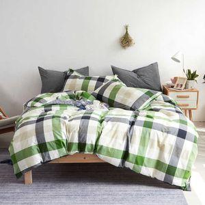 Hot Selling Comforter Four-piece Cotton Yarn-dyed Washed Cotton Sets Bedding Set Duvet Cover Designer Bedding Brand