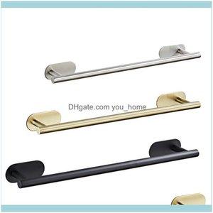 Racks Hardware Bath Home & Garden40Cm 50Cm Stainless Steel Rack Self Adhesive Wall-Mounted Bathroom Towel Holder Balcony Shelf Hanger Drop D