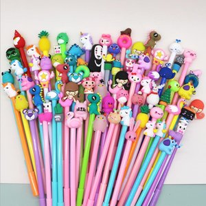 Cartoon neutral Gel Pens signature pen cute creative girl heart black student stationery promotional gifts
